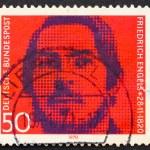 Постер, плакат: Postage stamp Germany 1970 Friedrich Engels