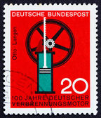 Postage stamp Germany 1964 Internal combustion engine — Stock Photo