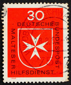 Postage stamp Germany 1969 Maltese Cross — Stock Photo