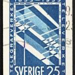 Postage stamp Sweden 1953 Telephone — Stock Photo #8390307