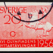 Stock Photo: Postage stamp Sweden 1956 Greek Horseman