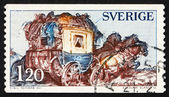 Postage stamp Sweden 1967 Mail Coach — Stock Photo