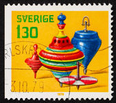 Postage stamp Sweden 1978 Spinning Tops, Toys — Stock Photo