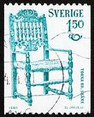 Silla de suecia 1980 estampilla de 1831, scania — Foto de Stock