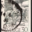 Stock Photo: Postage stamp Sweden 1960 Anders Zorn, painter and sculptor