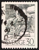 Postage stamp Sweden 1960 Anders Zorn, painter and sculptor — Stock Photo