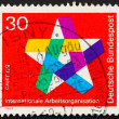 Postage stamp Germany 1969 Five-pointed Star — Stock Photo #8420522