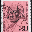 Stock Photo: Postage stamp Germany 1970 Friedrich Holderlin