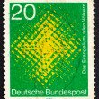 Postage stamp Germany 1970 Cross Seen through Glass — Stock Photo #8420630