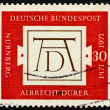 Postage stamp Germany 1971 Albrecht Durer's signature — Stock Photo