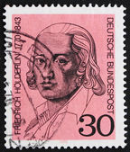 Postage stamp Germany 1970 Friedrich Holderlin — Stock Photo