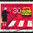 Постер, плакат: Postage stamp Germany 1971 Observe Pedestrian Crossings