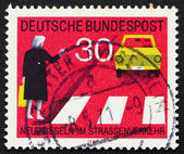 Postage stamp Germany 1971 Observe Pedestrian Crossings — Stock Photo