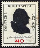 Postage stamp Germany 1974 Friedrich Gottlieb Klopstock, poet — Stock Photo