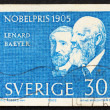 Postage stamp Sweden 1965 Lenard and Baeyer — 图库照片 #8443804