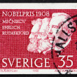 Stock Photo: Postage stamp Sweden 1968 Metchnikoff, Ehrlich and Rutherford