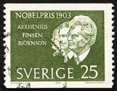 Postage stamp Sweden 1963 Arrhenius, Finsen and Bjornson — Stock Photo
