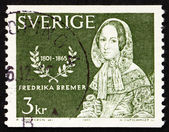 Postage stamp Sweden 1965 Frederika Bremer, Novelist — Stock Photo