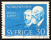 Postage stamp Sweden 1965 Lenard and Baeyer — Stock Photo