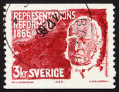 Postage stamp Sweden 1966 Baron Louis Gerhard De Geer — Stock Photo