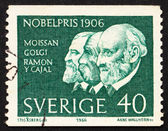 Postage stamp Sweden 1966 Moissan, Golgi and Ramon y Cayal — 图库照片