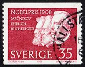 Selo postal suécia 1968 metchnikoff, ehrlich e rutherford — Foto Stock