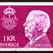 Postage stamp Sweden 1973 King Gustaf VI Adolf — Stock Photo
