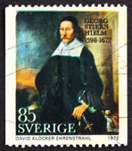 Postage stamp Sweden 1972 Georg Stiernhielm, poet — Stock Photo