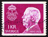 Postage stamp suède 1973 roi gustaf vi adolf — Photo