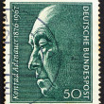 Постер, плакат: Postage stamp Germany 1976 Konrad Adenauer Chancellor
