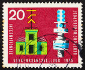 Postage stamp Germany 1965 Semaphore Telegraph and Telecommunica — Stock Photo