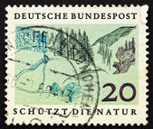Postage stamp Germany 1969 Foothills, Nature Protection — Stock Photo