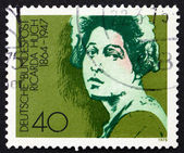 Poeta, escritor e selo alemanha 1975 ricarda huch — Foto Stock