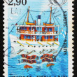 Stock Photo: Postage stamp Finland 1991 Steamship on Lake Saimaa, Finland