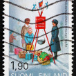 Stock Photo: Postage stamp Finland 1989 Salvation Army in Finland