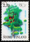 Postage stamp Finland 1973 Map of Seurasaari Island — Stock Photo
