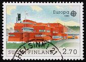 邮票 1990年芬兰主要邮政信箱,图尔库 — 图库照片