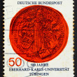 Postage stamp Germany 1977 Jesus as Teacher, Great Seal of Unive — Stock Photo