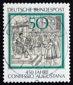 Postage stamp Germany 1980 Reading of Confession of Augsburg to — Stock Photo