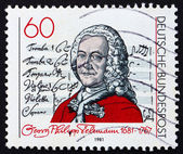 Postage stamp Germany 1981 Georg Telemann, composer — Stock Photo