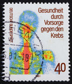 Postage stamp Germany 1981 Chest scintigram — Stock Photo