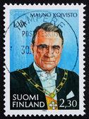 Postage stamp Finland 1993 Mauno Koivisto — Stock Photo