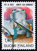 Postage stamp Finland 1984 Kaplan hydraulic turbine — Stock Photo