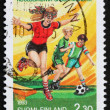 Postage stamp Finland 1993 Children playing — Stock Photo