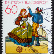Stock Photo: Postage stamp Germany 1981 North Germcouple dancing in region