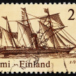 Stock Photo: Postage stamp Finland 1986 Postal Steamship Nicolai
