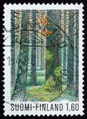 邮票芬兰 1979 multiharju 森林,seitseminen 国家 — 图库照片