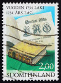 Postage stamp Finland 1984 Statute Book — Stock Photo