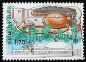 Postage stamp Finland 1986 Tampere Main Library — Stock Photo