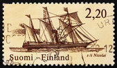Postage stamp Finland 1986 Postal Steamship Nicolai — Stock Photo